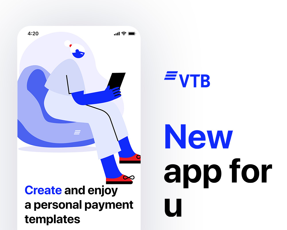 VTB payment screens concept